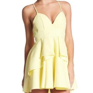 Yellow Strappy Dress with Open Back
